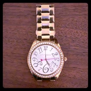 Betsey Johnson gold watch